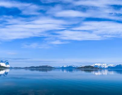 Nuances de bleus - Norvège
