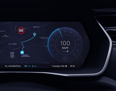 Electric Car Dashboard Design