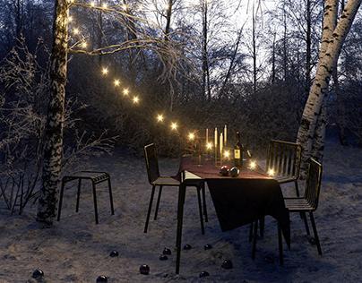DINING in SNOW