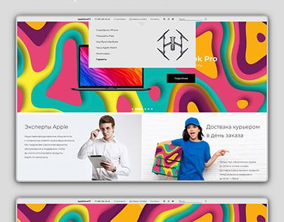 Apple product store concept Концепт интернет магазина