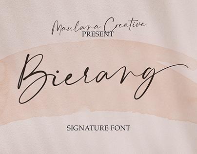 Bierang Signature Font