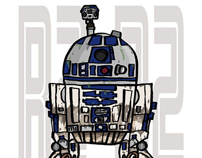 R2-D2 Dagobah ILLUSTRATION