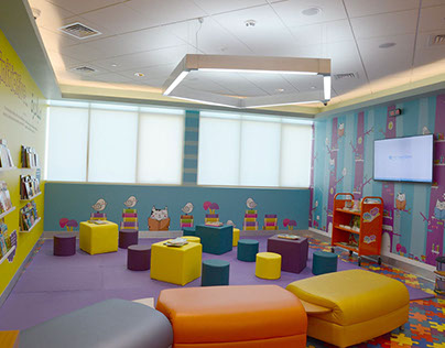 Mural for a Library in Emirates Children's Hospital