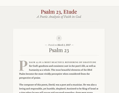Psalm 23, Etude - A Poetic Analysis of Faith in God