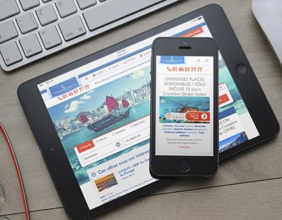 French travel agency website