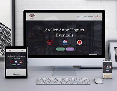 Website for Atelier Anne Hoguet Eventails