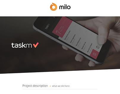 TaskM UI Design - by Milo