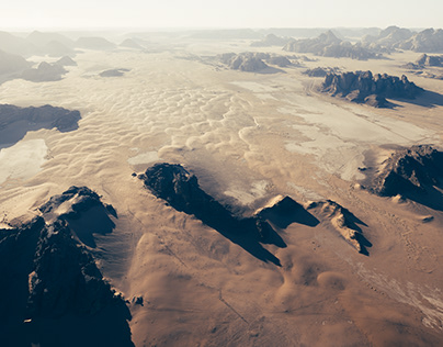 Wadi Rum From The Air