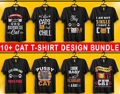 BEST SELLING 10+ CAT T-SHIRT DESIGN BUNDLE
