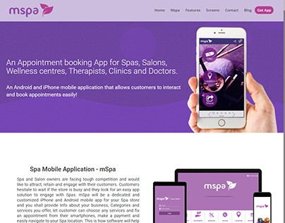 Brochure website for Android and iPhone mobile app....