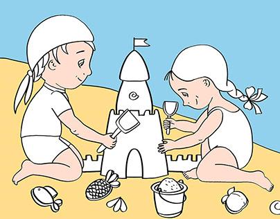 """Children's activity book """"Sandbox"""""""