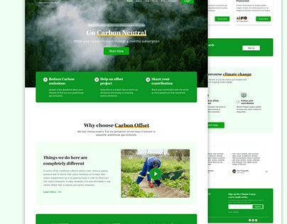 Carbon Offset Website Design