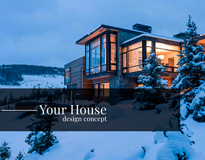 """Website concept """"Your House Co."""""""