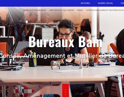 Web design bureaux bam on behance