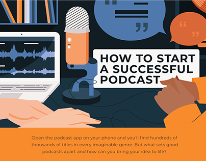 Podcast related infographic design