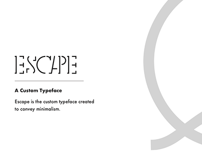 Escape - The Minimal Typeface