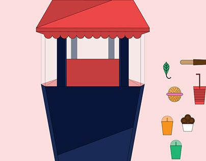 Food Court Animation