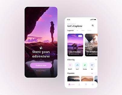 Adventure/Travel app - UX/UI Design