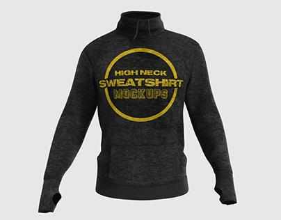 High Neck Sweatshirt Mockups