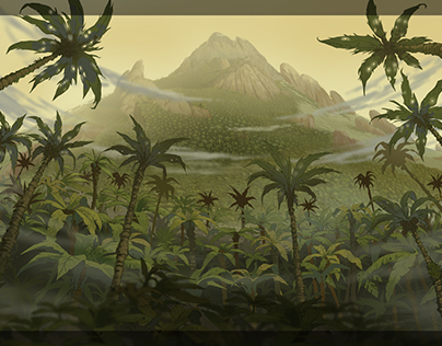 Jungles. Animation backgrounds.