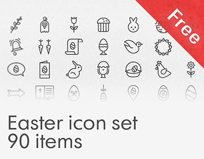 Free Easter icon set, 90 items