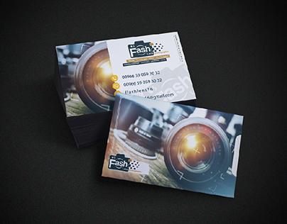 كرت شخصي لمصور فوتوغرافي، Photographer's business card