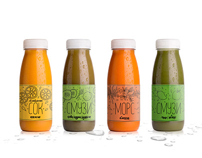 Labels for juices and smoothies