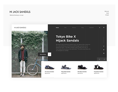 Hijack Sandal Website Redesign