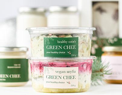 Vegan saladsdesignbox packaging identity branding