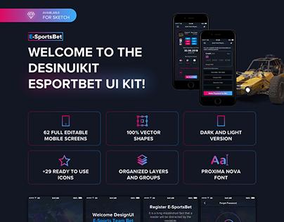 EsportsBet Mobile App UI Kit