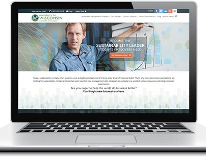 Sustainable Management Website Design