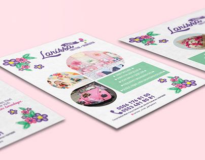 Larissa Çiçek Parti Store & Organizasyon Flyer