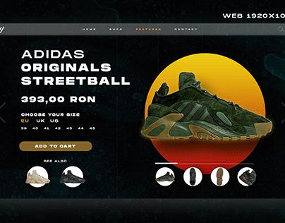 ADIDAS Streetball UX/UI