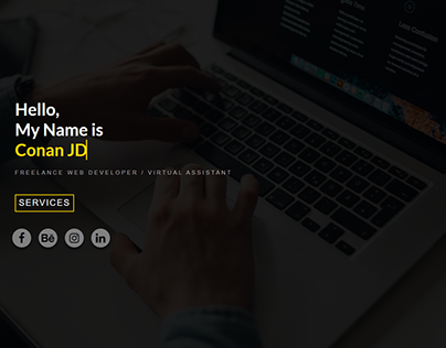 Portfolio Landing Page - Conan JD Website