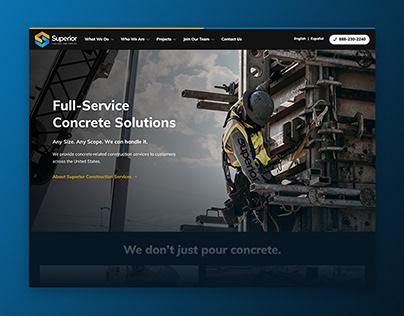 Superior Construction Services Website