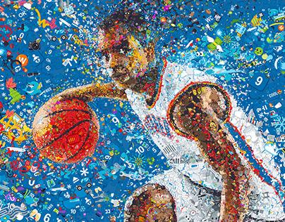 Oklahoma City Thunder Emoji-Hunt mosaic