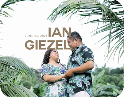 Guestbook Layout for Ian and Giezel