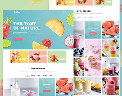 Fruitbar web design