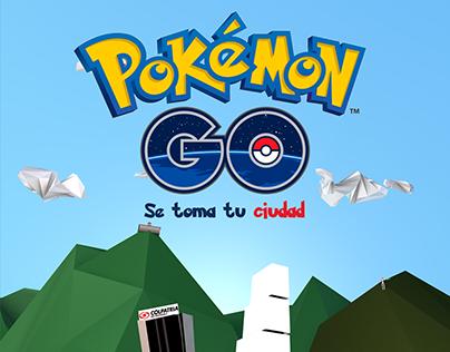 Pokémon GO - Poster Bogotá