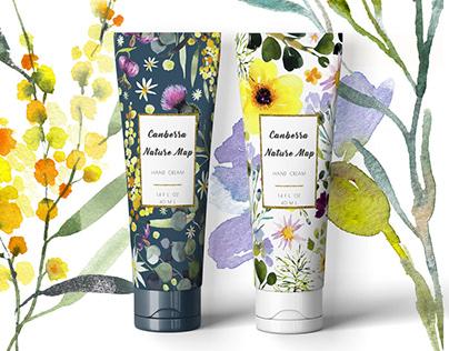Australian botanical package design