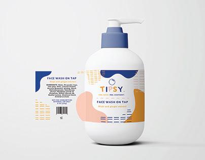 Tipsy Skincare Branding