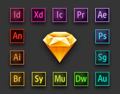 Adobe CC Logos for Sketch