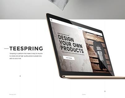 Teespring Redesign Concept