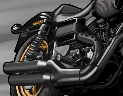 Illustration Harley Davidson Dyna S