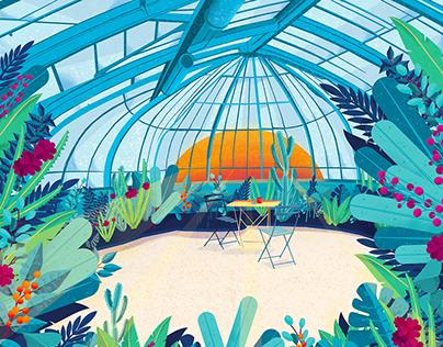 Illustration, Serre du Jardin des Plantes