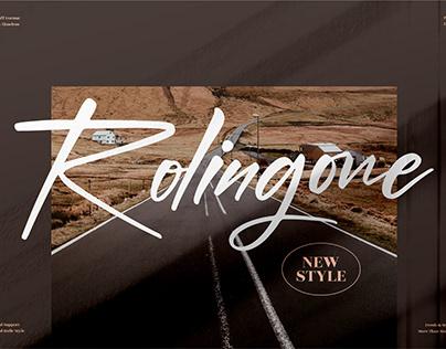 Rolingone - Handwritten Font