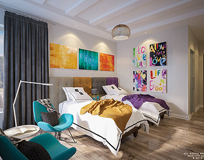 colorful Kids bedroom - North Cost