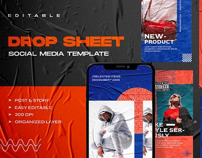 Drop Sheet Social Media Template