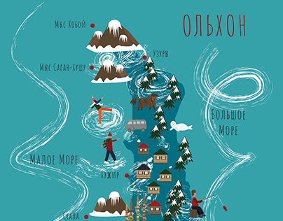 Map of Olkhon Island