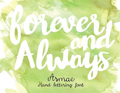 Asmae Hand font